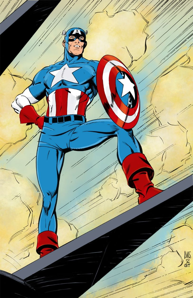 Captain america by paul smith and gerry turnbull comic art
