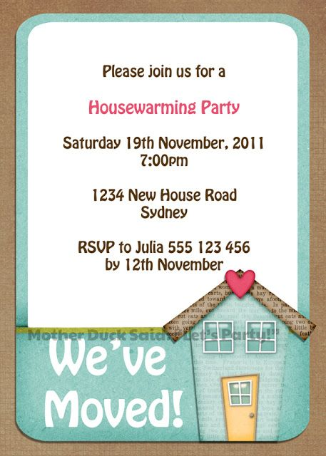 housewarming party invite templates