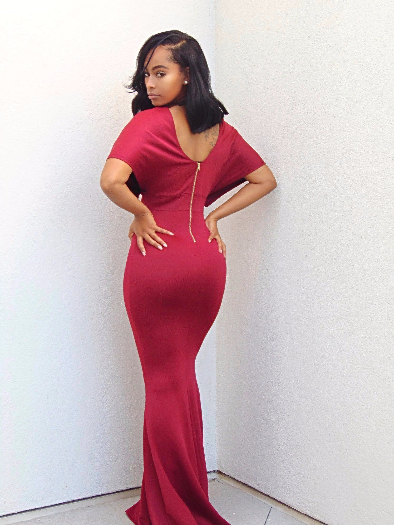 32d482428fc Arianne Maxi Red Dress with Sleeves - Semai House Of fashion