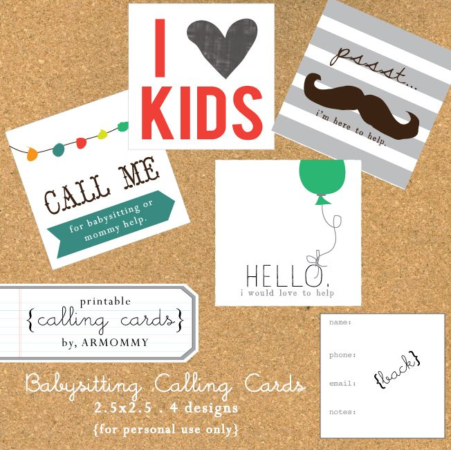 Cute Printable Calling Cards Calling Cards Cards Diy Case