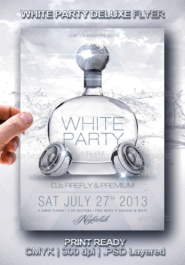 White Party Deluxe Flyer Flyer Template Template And Party Flyer