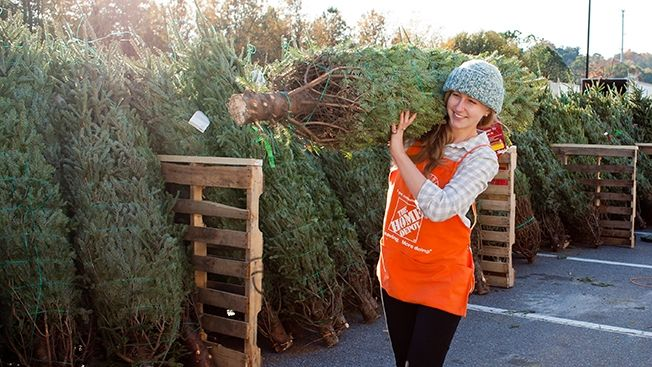 Home Depot Teams With Uber To Deliver Christmas Trees Christmas Tree Delivery Xmas Live Christmas Trees