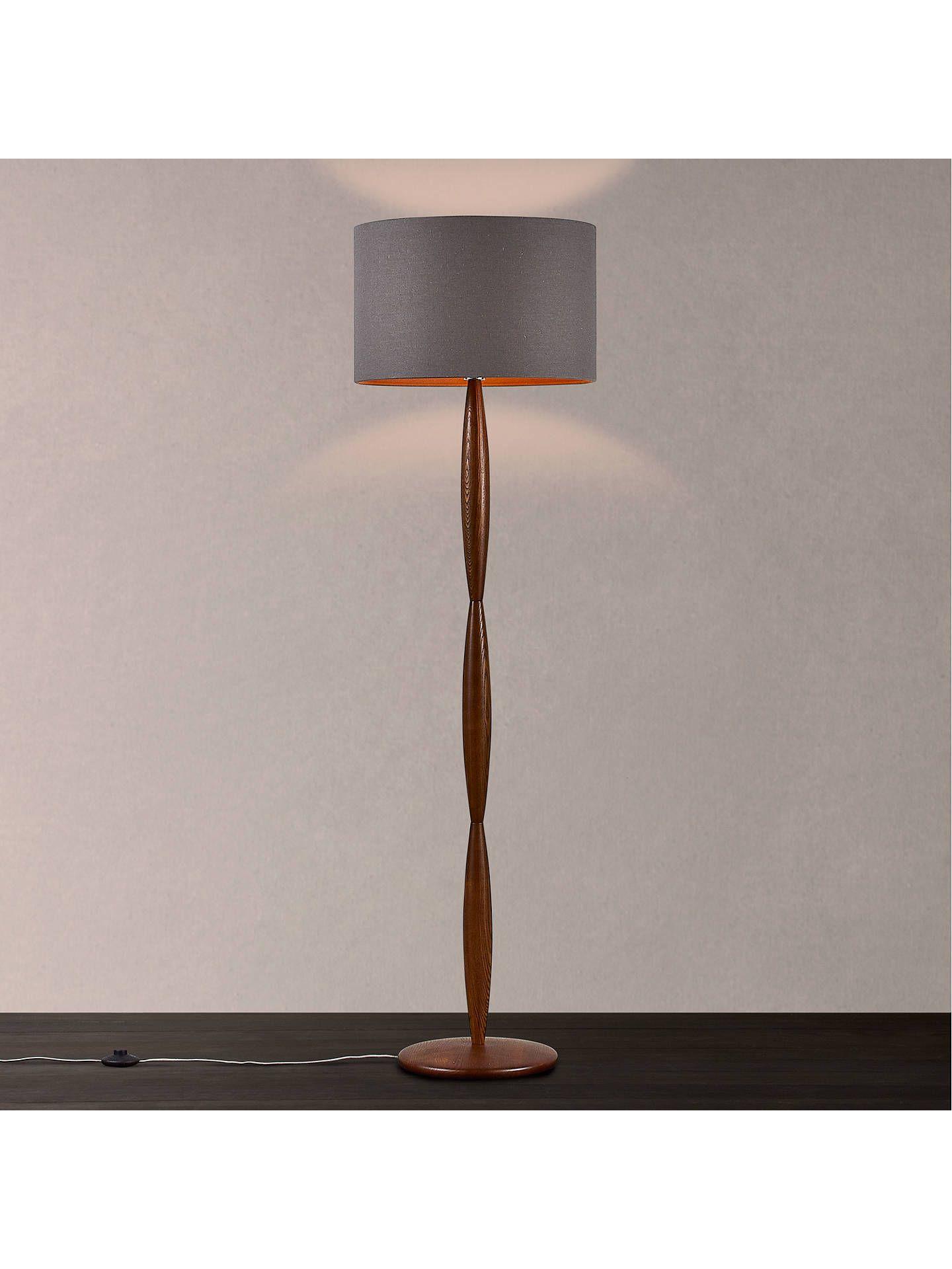 John Lewis & Partners Edie Spindle Wooden Floor Lamp
