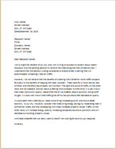 Letter Expressing Concern To Community Official Download At Http