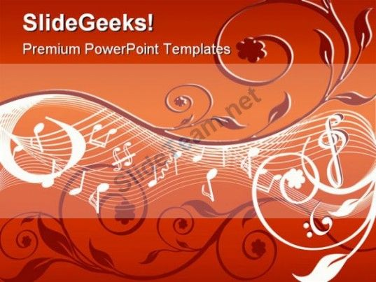 Music Abstract Powerpoint Background And Template 1210 Powerpoint