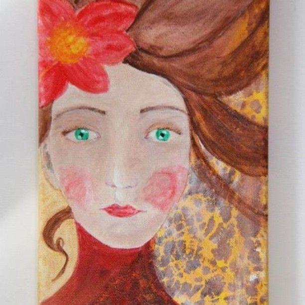 #natalieswunderland #etsy #etsyshop #etsyseller #instaart #instadaily #instaartist #painting #ooak #ooakpainting #lifo #instalifo #athensvoice #artnouveau #mixedmedia #cheapart #portrait #womanportrait #picoftheday #photooftheday by natalialampropoulou