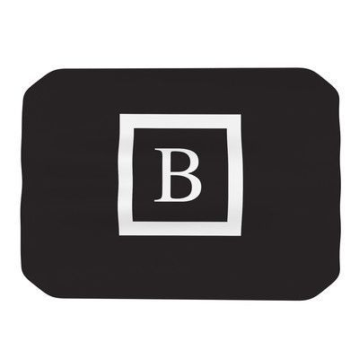 KESS InHouse Monogram Solid Placemat Color: Black, Letter: B