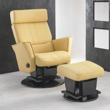 Dutailier 219 Vancouver Glider with Open Base and Ottoman - 219240