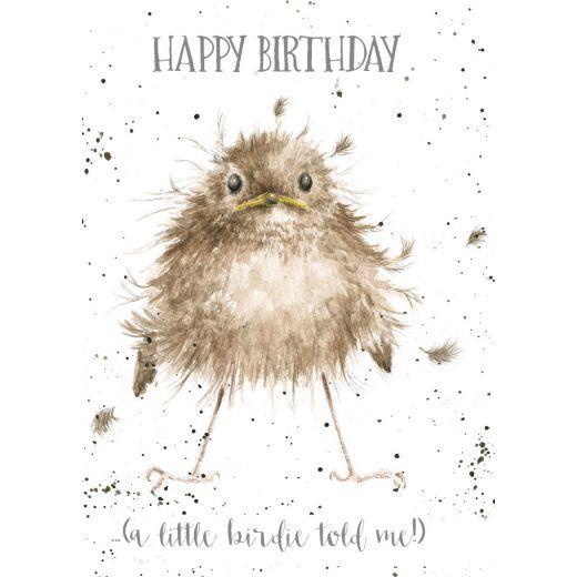 Little Wren' Birthday card Little Wren