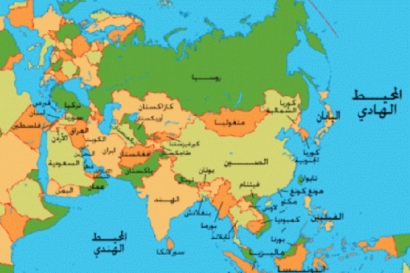 خريطة قارة آسيا World Political Map Map World Map