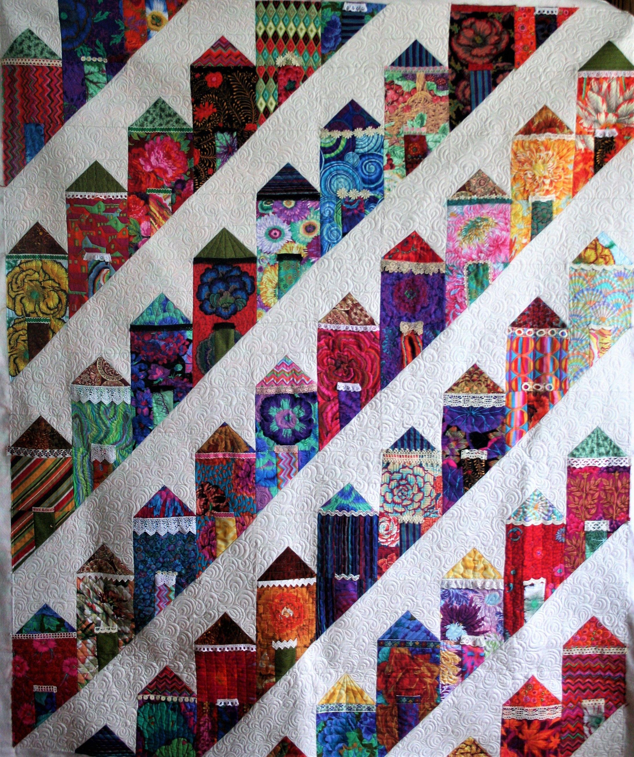 Painted Ladies Quilt Quilts House Quilts Custom Quilt Labels