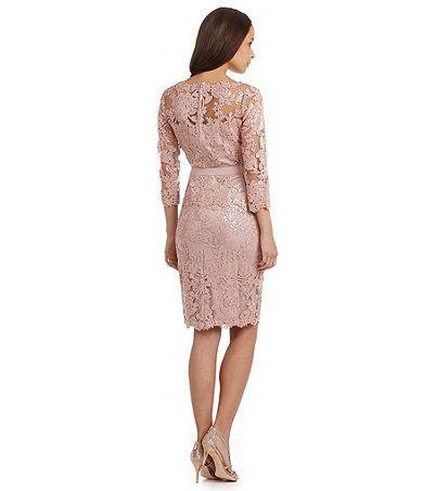 Tadashi Shoji Sequin Lace Cocktail Dress Dillards | Gala
