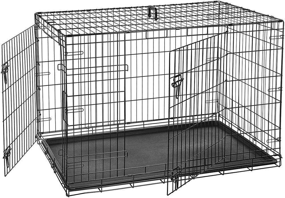 48 inch Outdoor Double Door Folding Metal Dog Crates