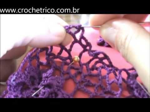 Crochê Tricô - Gráficos: Blusa Floral de Ana Maria Braga
