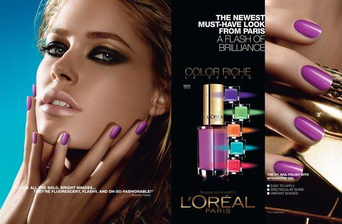 loreal nail polish ad | c f i n s p o | Pinterest | Beauty ad ...