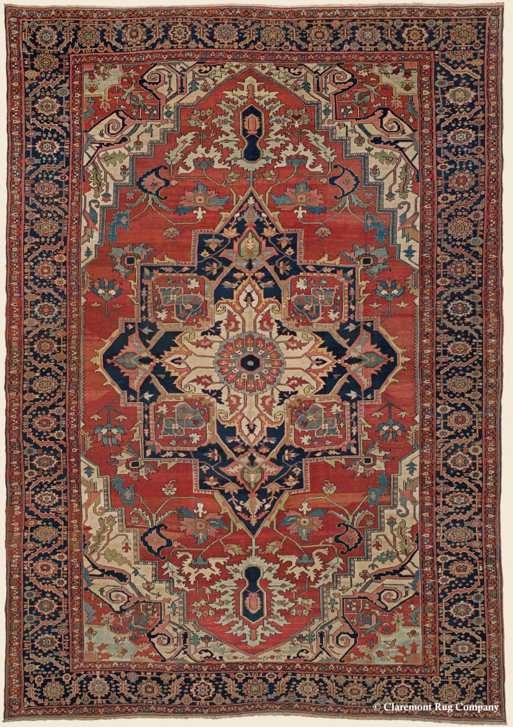 Serapi Northwest Persian Oversize Collectible Carpet Antique Rug 11 0 X 15 10 Circa 1875 In 2020 Persian Rug Designs Claremont Rug Company Antique Persian Carpet