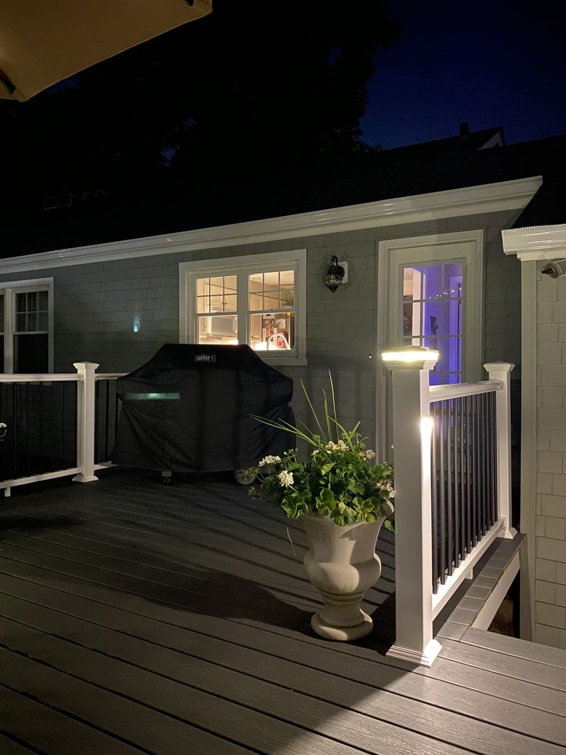 Mini Nebula Eyeball Led Rail Light By Aurora Deck Lighting In 2020 Deck Lighting Outdoor Deck Lighting Deck