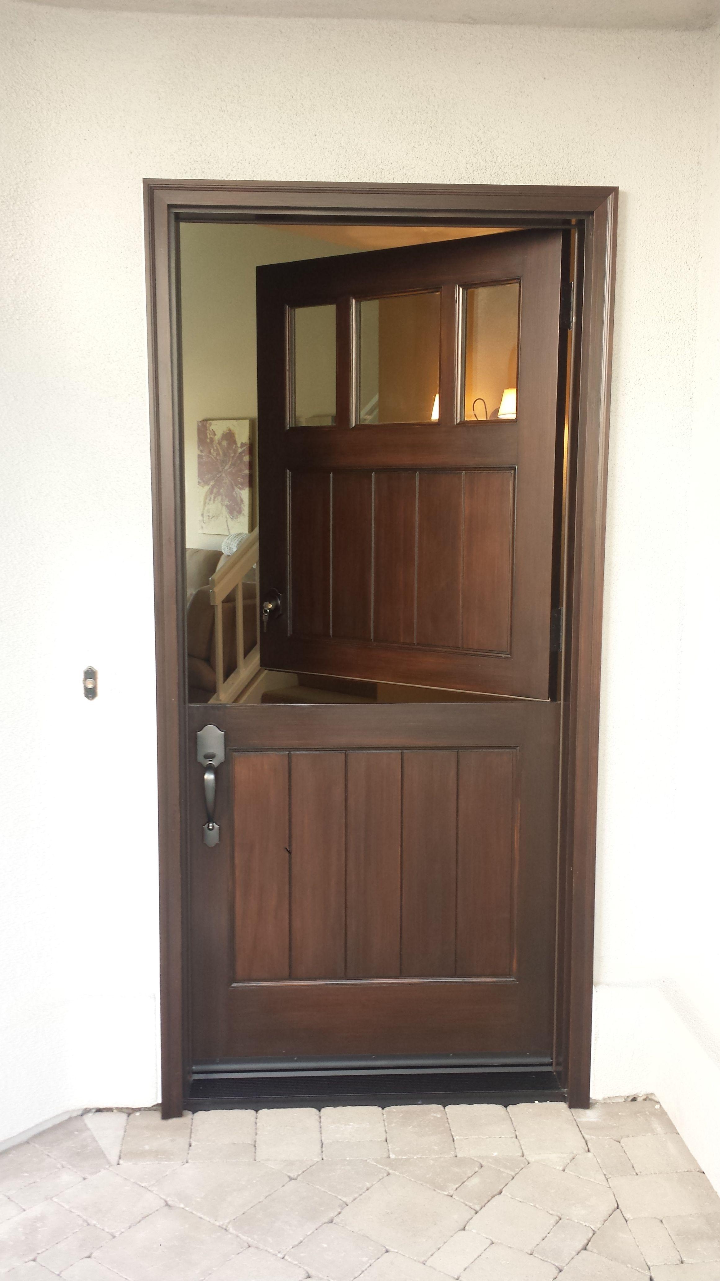 Custom Wood Dutch Door