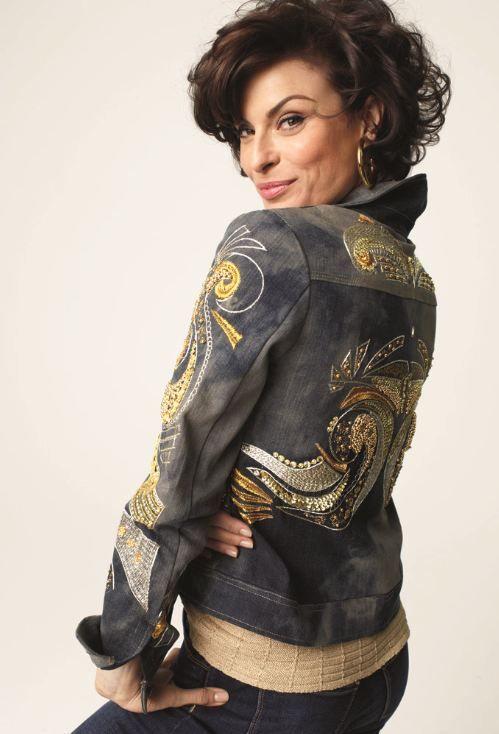 Embellished Scroll Denim Jacket Fall Lookbook Chicos Totally