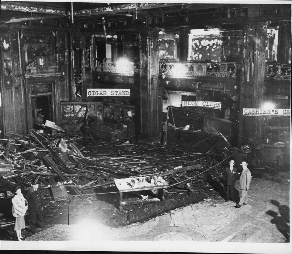 1946 CHICAGO LA SALLE HOTEL FIRE WIRE PHOTO | eBay | A Little Dab of ...
