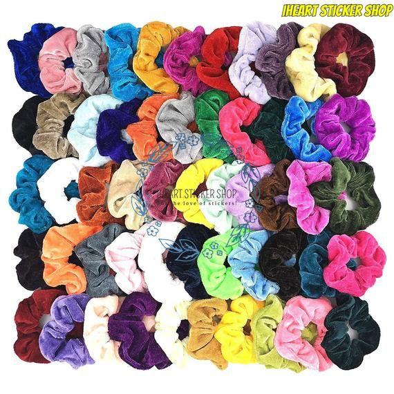 Velvet Hair Ties, VSCO Merch, Colorful Hair Access
