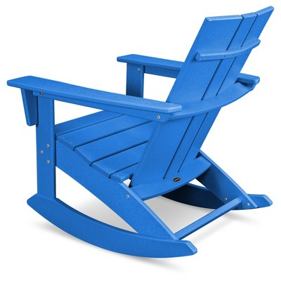 Polywood St Croix Modern Rocker Pacific Blue With Images