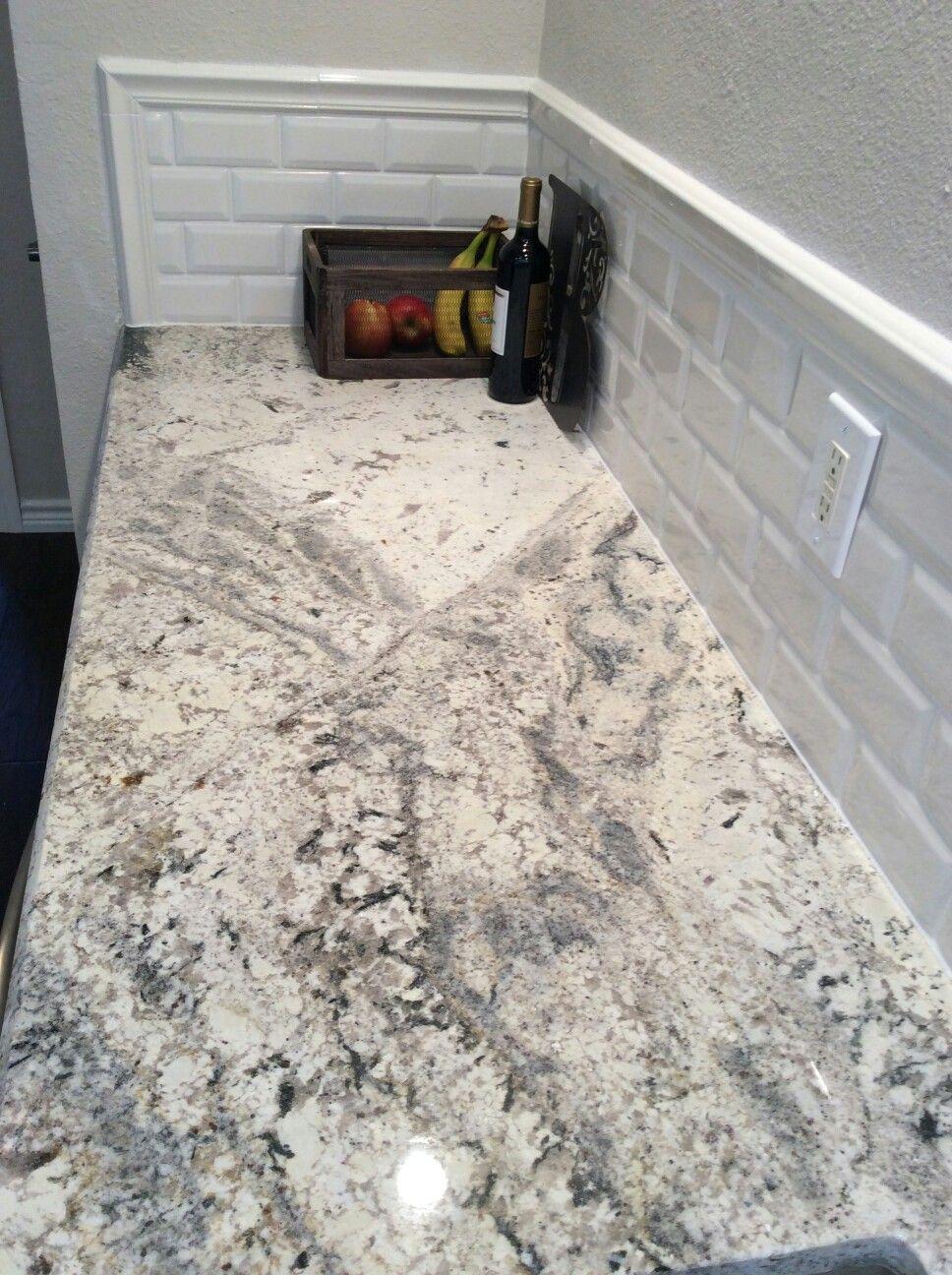 Yummy Romanix Granite From Arizona Tile Splashback Is Yummy Too All By Inri Fabrication In Granite Countertops Kitchen Granite Kitchen Grey Countertops