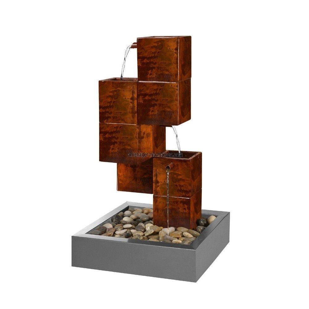 fontaine cubique en acier design et moderne. Black Bedroom Furniture Sets. Home Design Ideas