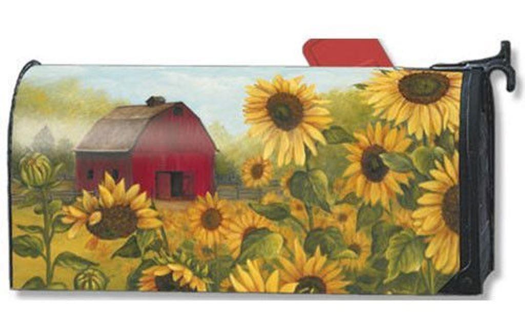 Other Garden D Cor 2034 Sunflower Farm Magnetic Mailbox Cover 1