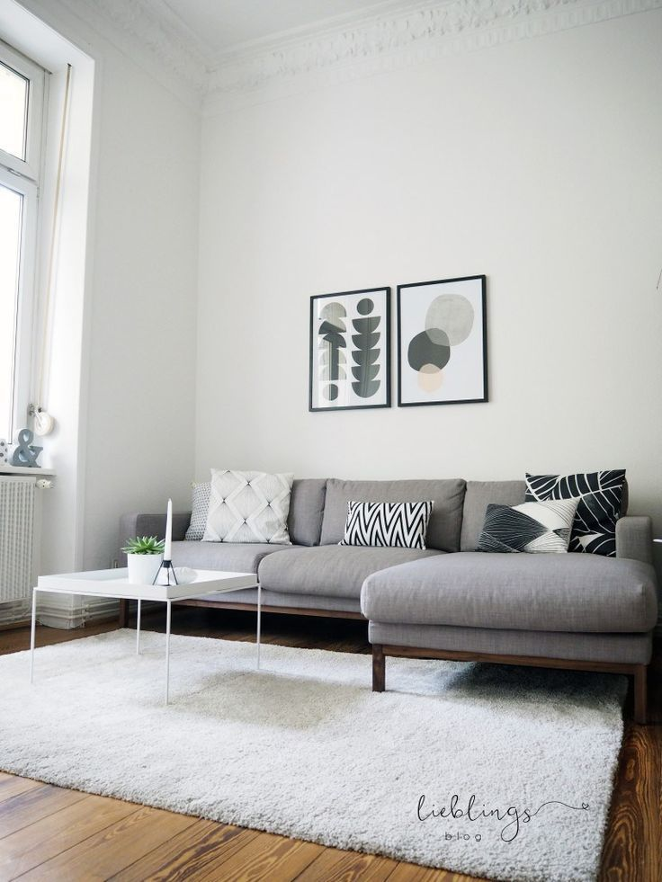 Wohnzimmer im skandinavischen Design und ein Gespräch über Design - wohnzimmer sofa stellen