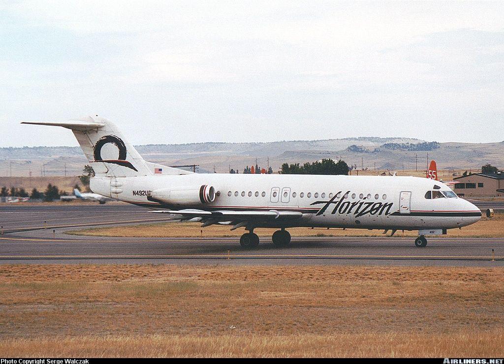 Fokker F284000 Fellowship Horizon Air Aviation Photo