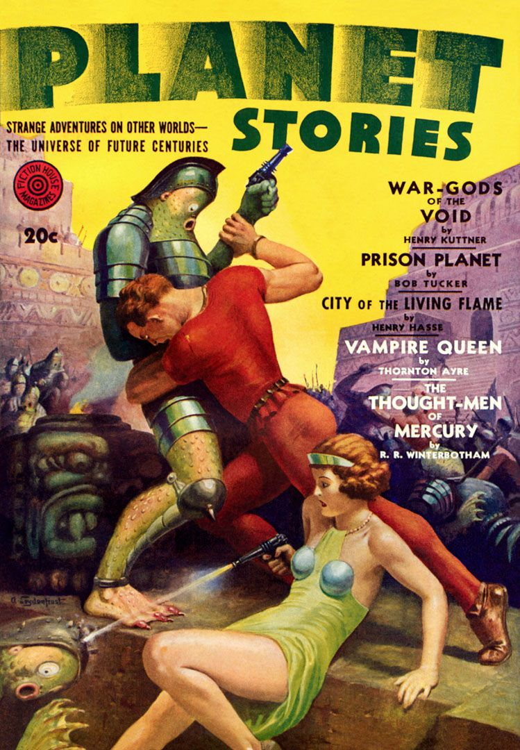 Sci Fi Planet Stories Featuring War Gods Of The Void Strange