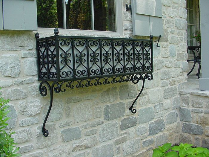 wrought iron window boxes Window Box 1.1 – A wrought iron window box. | Exteriors  wrought iron window boxes