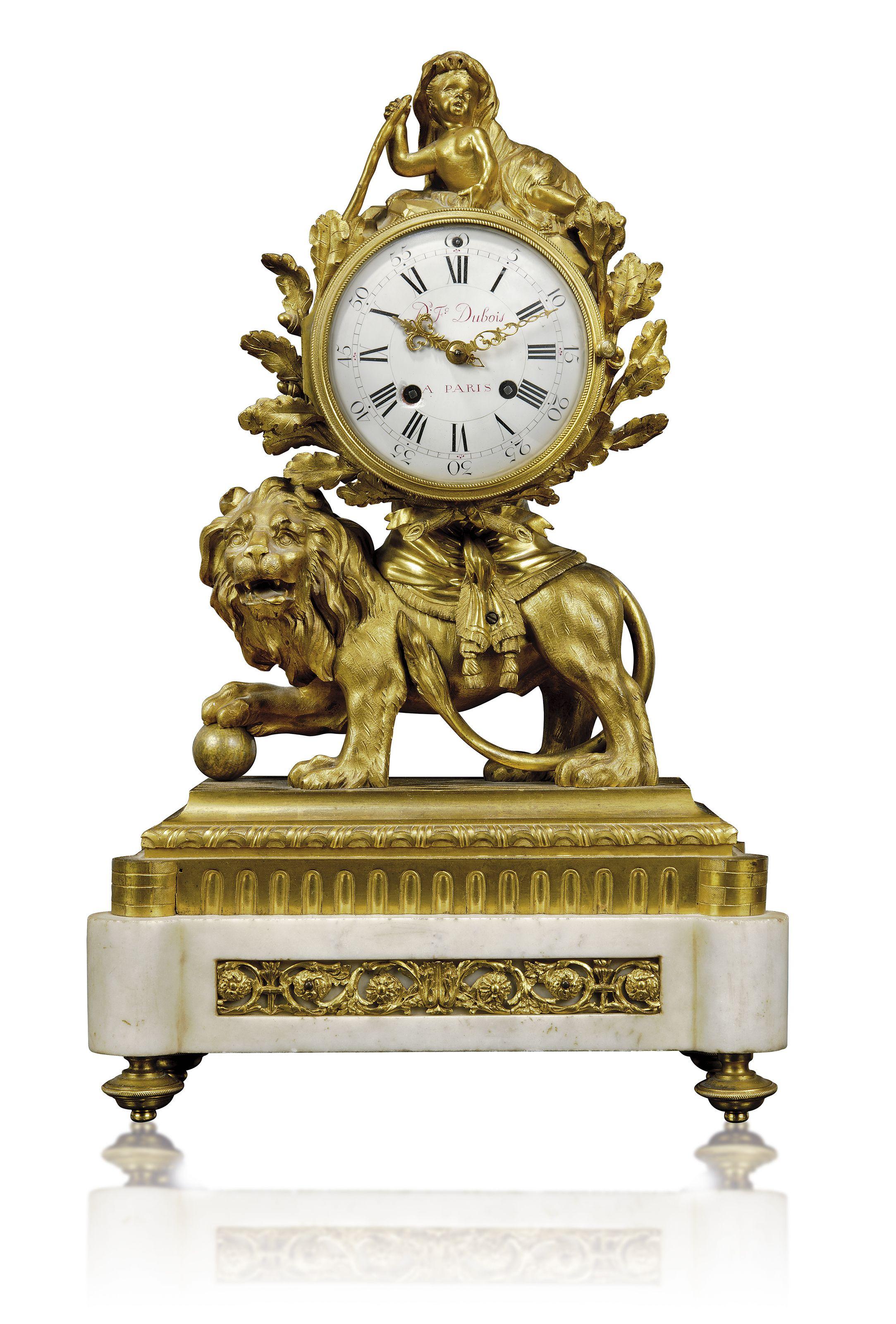 C1780 85 Louis Xvi Ormolu And White Marble Mantel Clock David Frederic Dubois Paris Circa 1780 85 The Case Attributed To Marie Jo Mantel Clock Clock Dubois