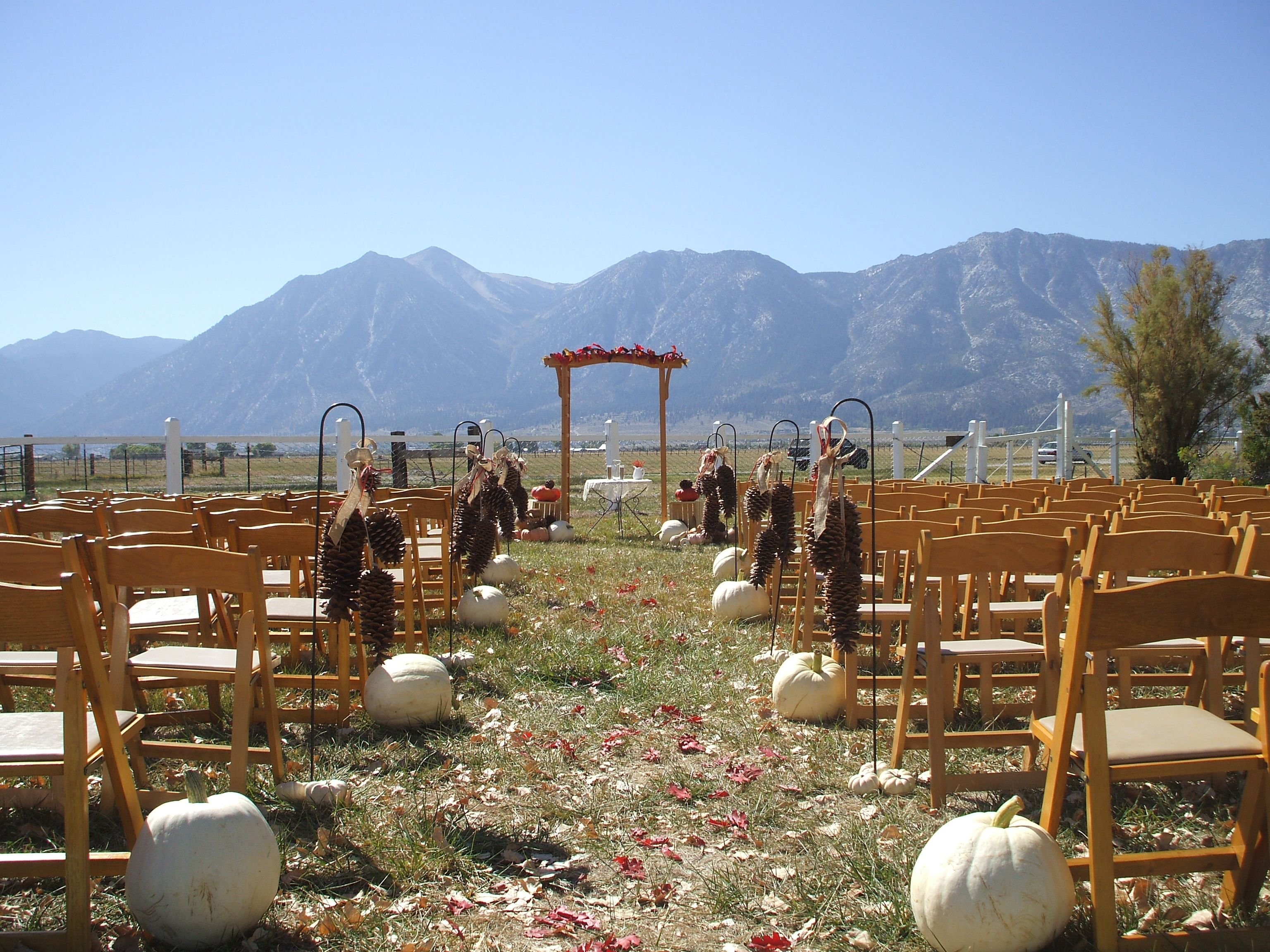 Wedding Set Up At The Dangberg Home Ranch Historic Park