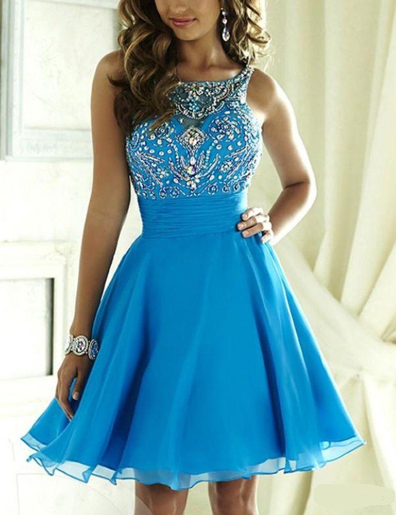 Blue Prom Dress,Short Prom Dress,Short Homecoming Dress,Sweet 16 ...