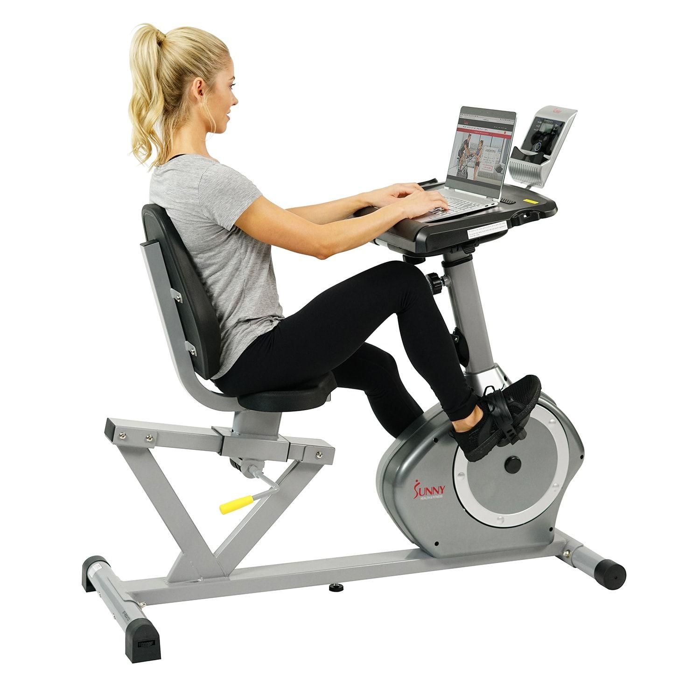 Sunny Health Fitness Desk Recumbent Exercise Bike Fitness Health Sunny Desk Biking Workout Desk Workout Health Fitness