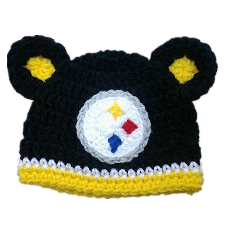Newborn Baby Girl or Boy Steelers Football Crochet Hat  3229432f4