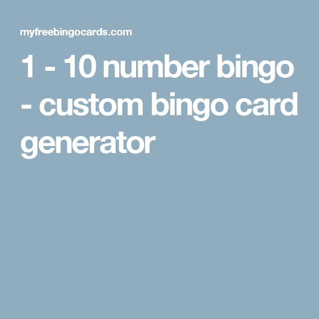 Bingo Card Generator, Custom Bingo