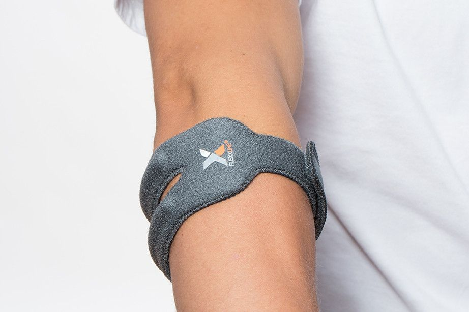 The Elbow Support puts pressure where the muscle blends into tendon & where tendon attaches to the bone.