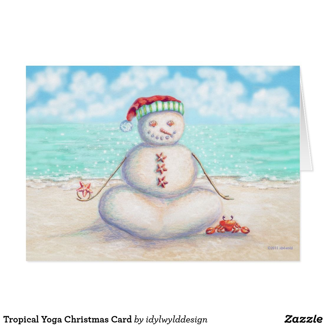 Tropical Yoga Christmas Card Pinterest