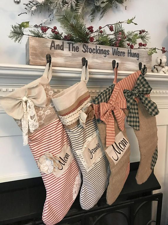 stocking holder christmas decor christmas stocking holder - Rustic Christmas Stocking