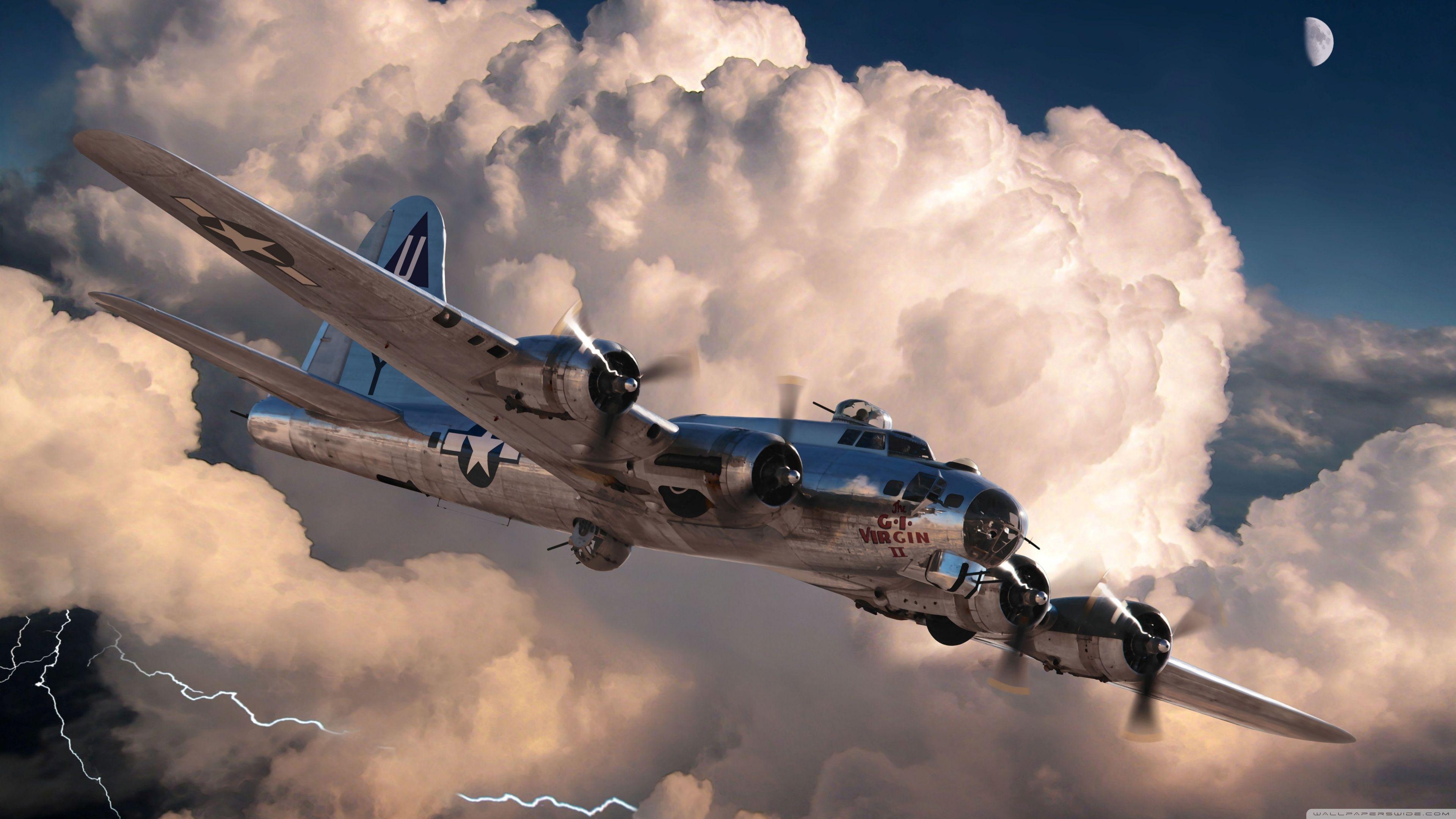3840x2160 World War 2 Plane 4k Hd Desktop Wallpaper For 4k Ultra Hd Tv Aviation Art Aircraft Art Aircraft