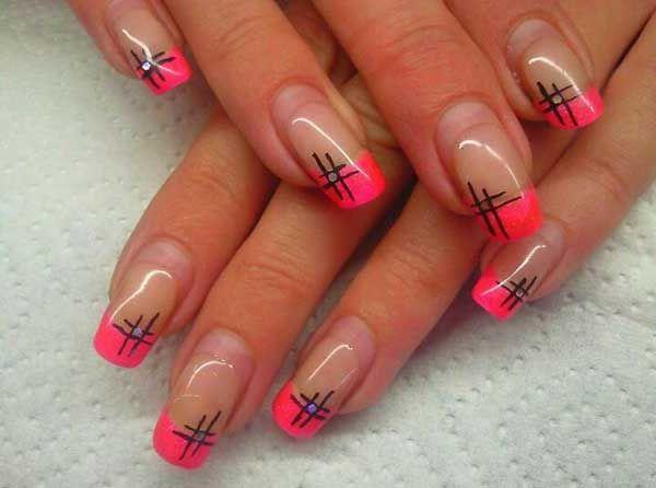 Pink Nail Tips Designs - Pink-tip-nail-art-nails-design-simple-nail-design-ideas-4265933467