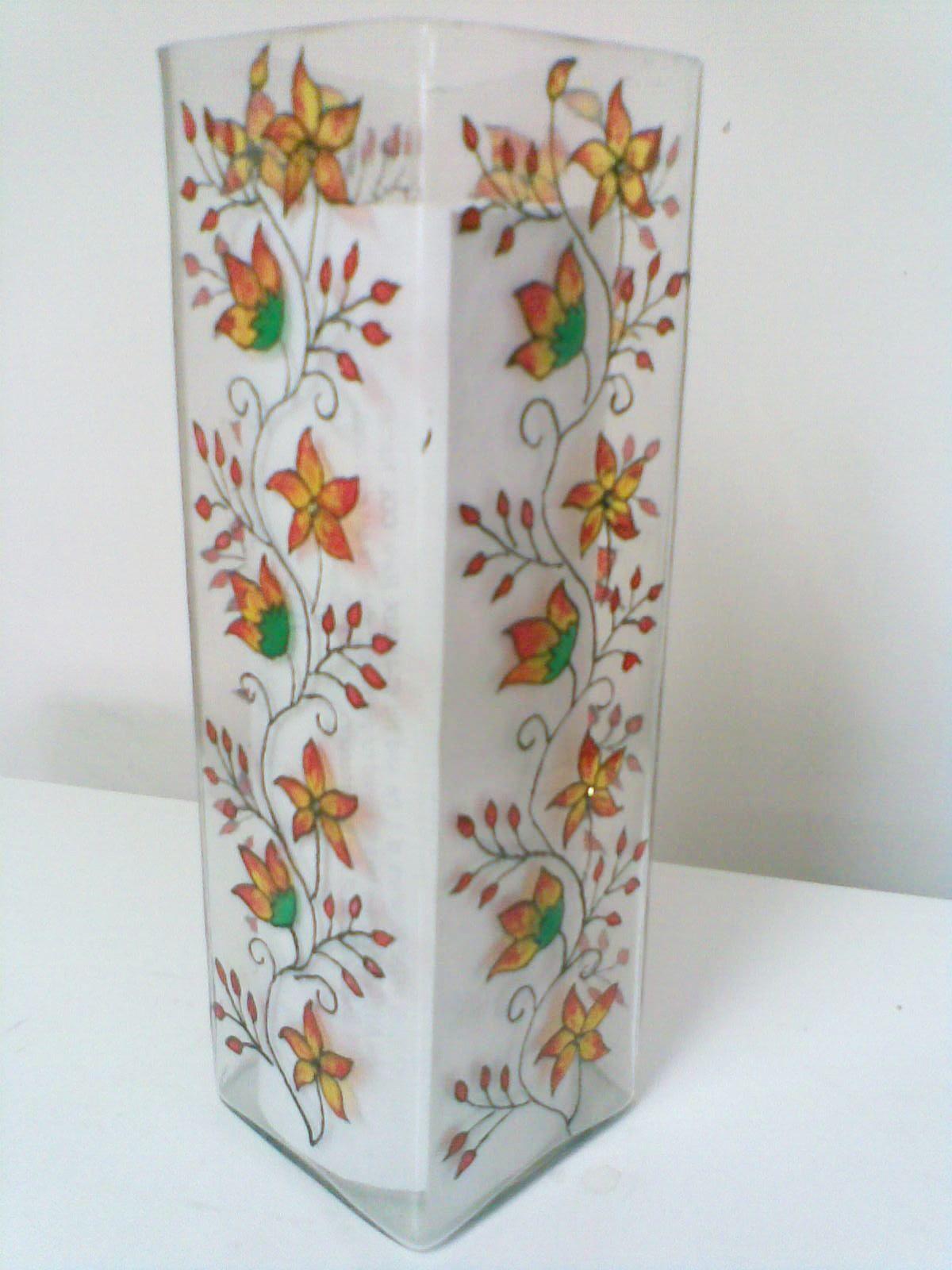 Abstract hand painted vases farah art creations vases abstract hand painted vases farah art creations reviewsmspy