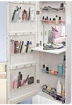 New View White Makeup Cabinet With Images Makeup Storage Small Bathroom Bathroom Makeup Storage Small Bathroom Storage