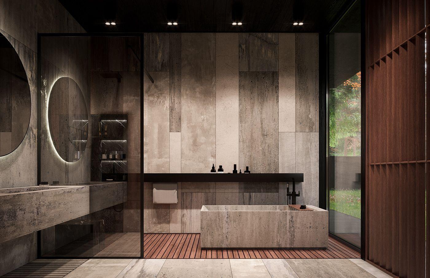 Roma House Interior Buro511 On Behance Luxurybathroomblog Bathroom Design Inspiration Rustic Home Interiors Bathroom Interior Design