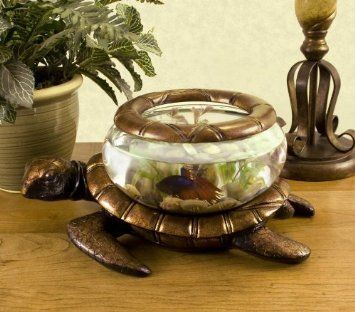 Amazon.com: Betta Art Decorative Turtle Bowl: Pet Supplies
