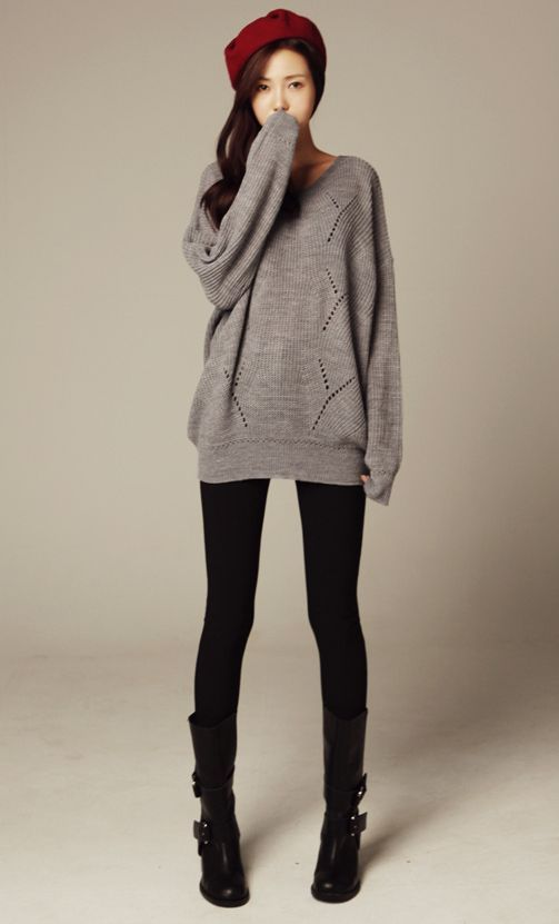 50 Stylish Women Sweaters Ideas To Look Chic This Winter | Korean ...