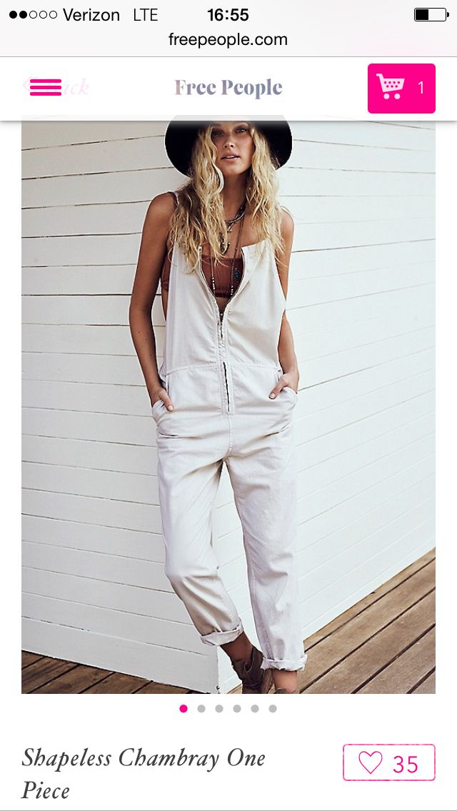 Free people chambray one piece